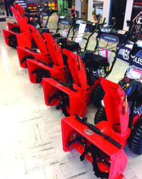 ARIENS SNOW THROWERS  ON HAND